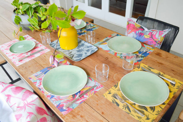 120Wild at Heart – DISPOSABLE PLACEMAT – DINNER TRAY – CUSHION COVER