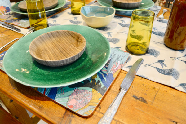 55Wild at Heart – TABLE RUNNER – MELAMINE PLACEMAT