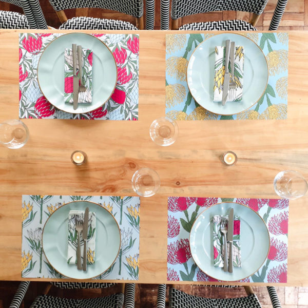 83Protea Collection- DISPOSABLE PLACEMAT – FABRIC NAPKIN