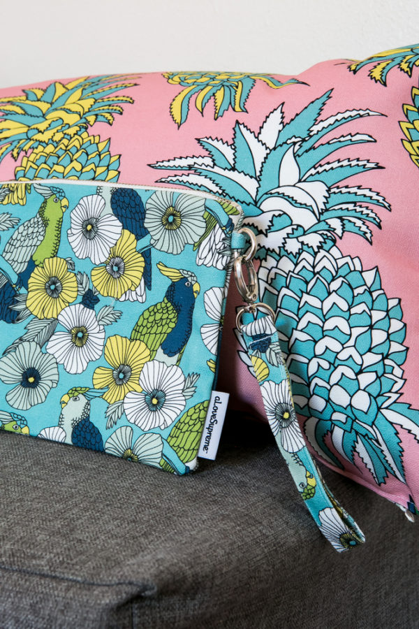 285Jungle Fever- CUSHION COVER- POUCH WITH STRAP
